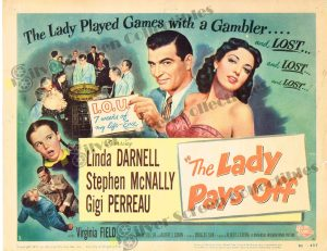 Lobby Card From The Lady Pays Off