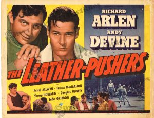 Lobby Card From The Leather Pushers