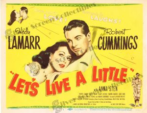 Lobby Card From Let's Live a Little