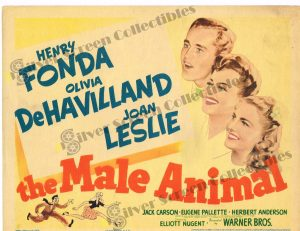 Lobby Card From The Male Animal