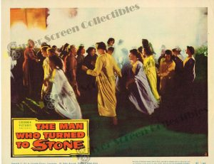 Lobby Card from The Man Who Turned to Stone