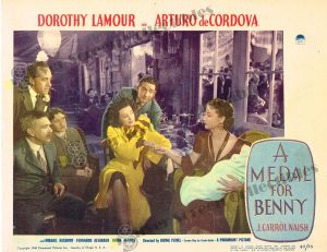 Lobby Card from A Medal for Benny