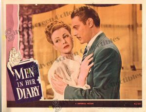 Lobby Card From Men in Her Diary
