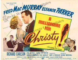 Lobby Card From A Millionaire for Christy