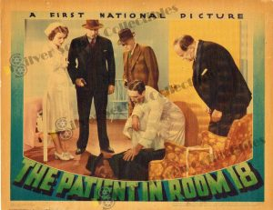 Lobby Card From The Patient in Room 18