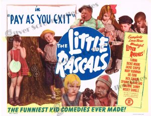 Lobby Card From Pay As You Exit - Little Rascals