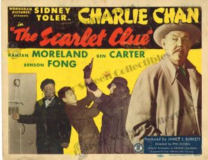 Lobby Card From The Scarlet Clue