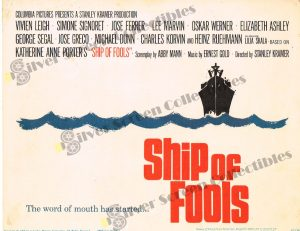 Lobby Card From Ship of Fools