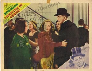 Lobby Card From A Slight Case of Murder