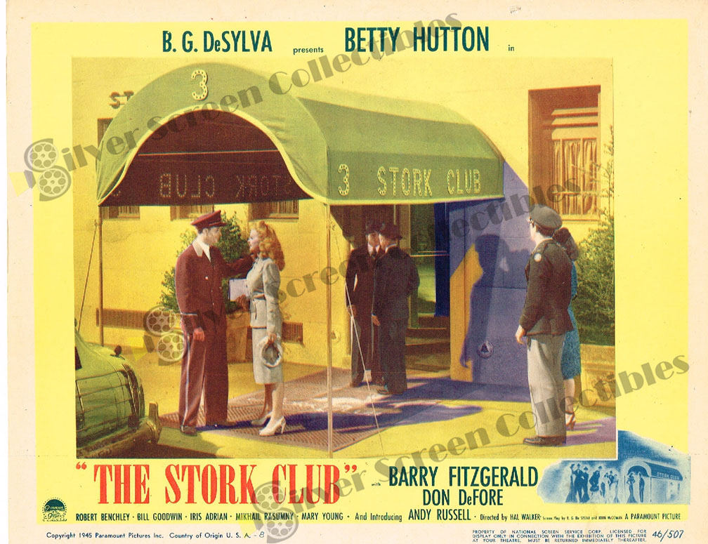 The Stork Club (1945) | Silver Screen Collectibles