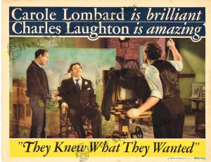 Lobby Card From They Knew What They Wanted