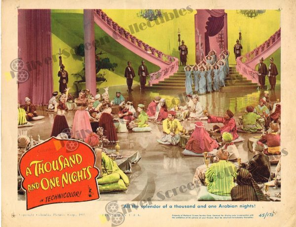 Lobby Card from A Thousand and One Nights