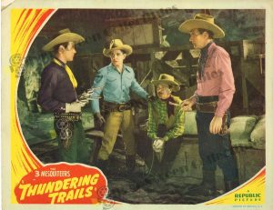 Lobby Card From Thundering Trails