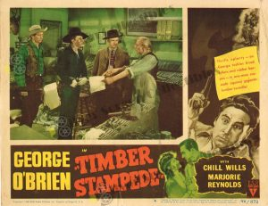 Lobby Card From Timber Stampede