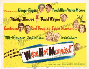 Lobby Card from  We're Not Married