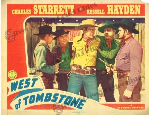 Lobby Card From West of Tombstone
