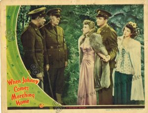 Lobby Card from  When Johnny Comes Marching Home