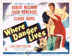 Lobby Card From Where Danger Lives