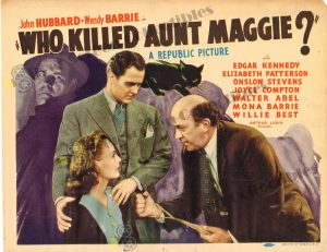 Lobby Card From Who Killed Aunt Maggie
