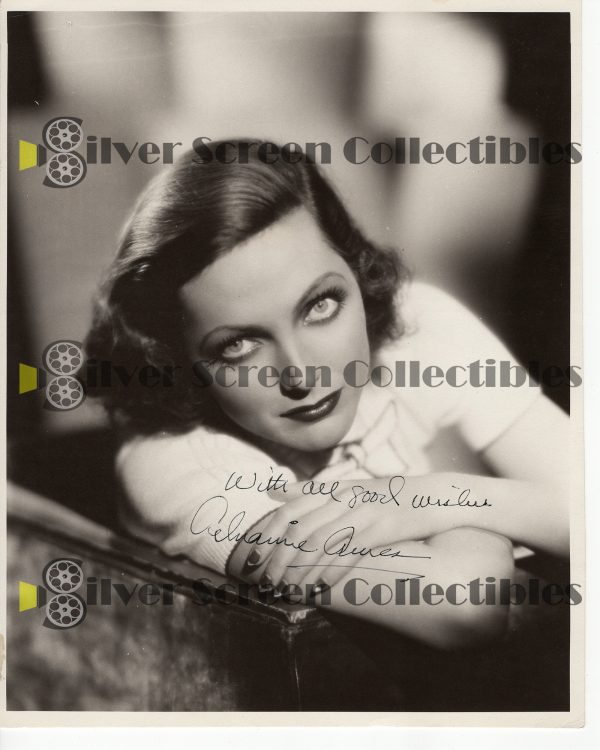 Photo Signed by Adrienne Ames