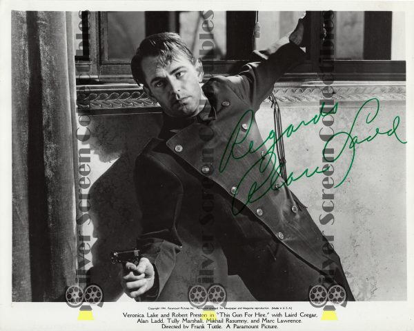 Photo Signed by Alan Ladd