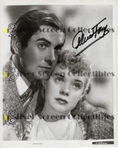 Photo Signed by Alice Faye
