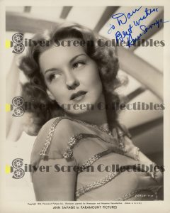 Photo Signed by Ann Savage