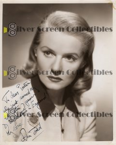 Photo Signed by Ann Todd