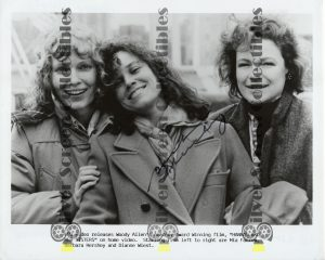 Photo Signed by Barbara Hershey