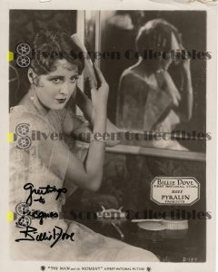 Photo Signed by Billie Dove