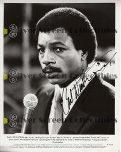 Photo Signed by Carl Weathers