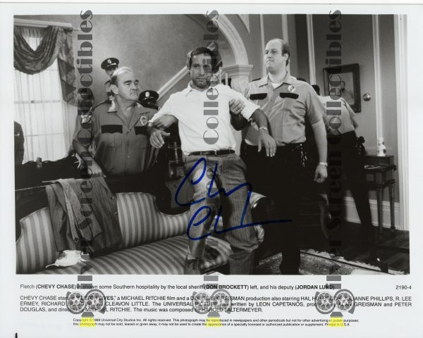 Photo Signed by Chevy Chase