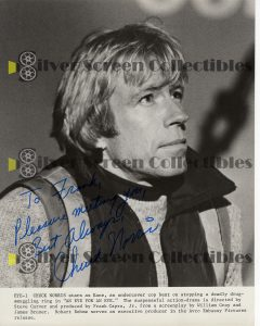 Photo Signed by Chuck Norris