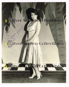 Vintage photo signed by Clara Bow