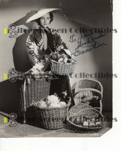 Photo Signed by Frances Dee