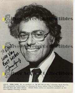 Photo Signed by Frank Capra Junior