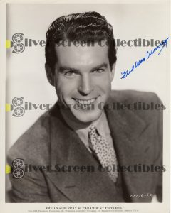 Photo Signed by Fred MacMurray