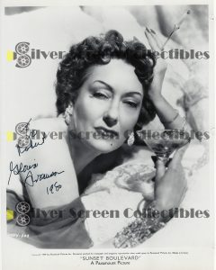 Photo Signed by Gloria Swanson