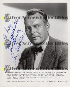 Photo Signed by Leif Erickson