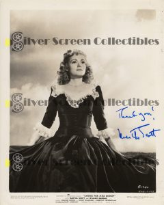 Photo Signed by Martha Scott
