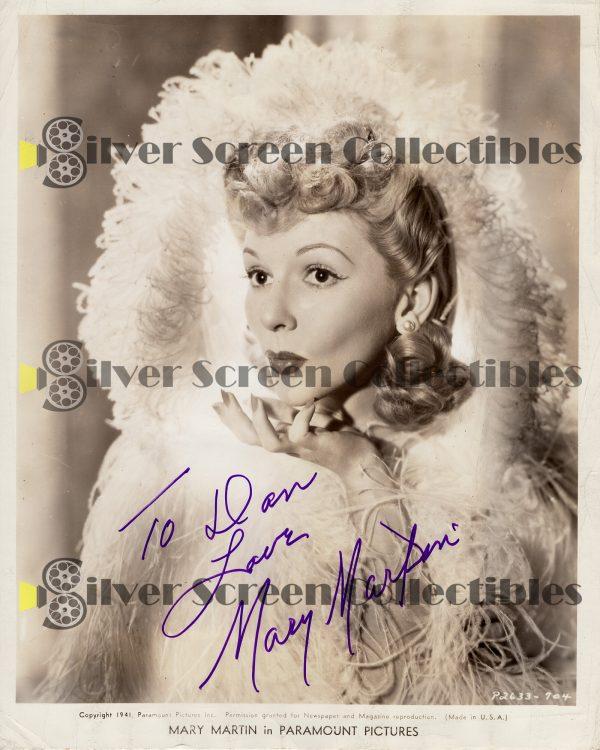 Photo Signed by Mary Martin