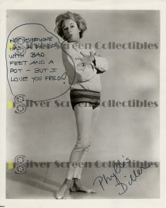 Photo Signed By Phyllis Diller