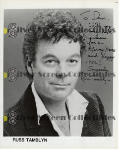 Photo Signed by Russ Tamblyn