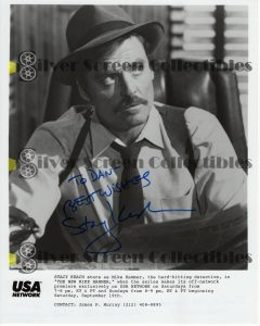 Photo Signed by Stacy Keach