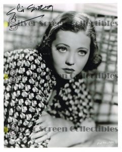 Photo Signed By Sylvia Sidney