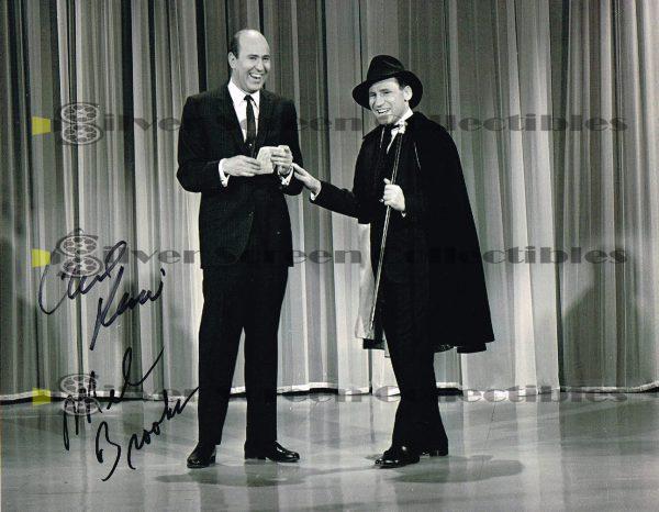 Carl Reiner & Mel Brooks signed photo