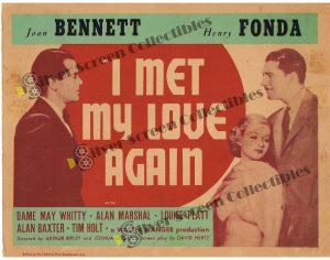 Lobby Card SET from I Met My Love Again