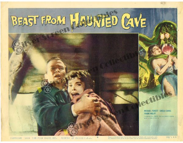 Lobby Card from Beast from Haunted Cave