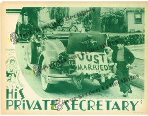 Lobby Card from His Private Secretary