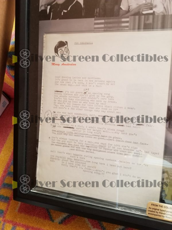 Morey Amsterdam & Rose Marie Comedy Sketch documents